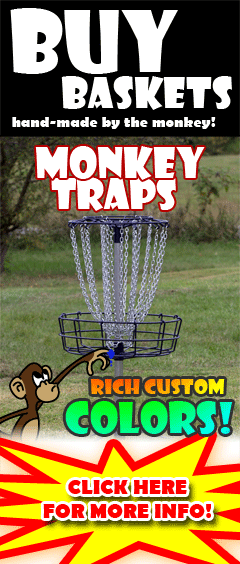 Monkey Traps - Disc golf baskets hand-made and custom colored